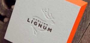 carte de visite Atelir Lignum