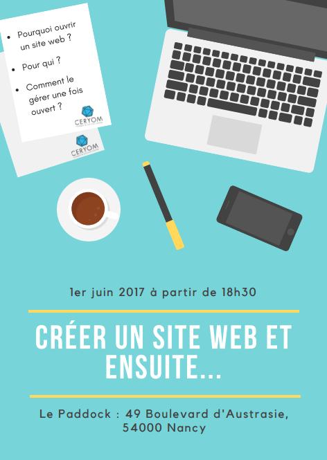 Conférence « créer votre site web et ensuite… »